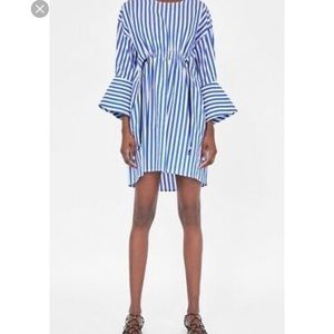 Zara Basic Striped Shirt Dress